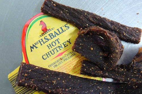 Biltong Hot Chutney 400g Sliced